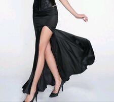 New Black Stretch Gothic Mermaid Sexy Slit Vintage Fishtail Skirt 10 12 14