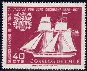 1970 Chile SC# 384 - Sailing Ship and Arms of Valdivia - M-NH -1