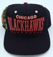 NHL Chicago Blackhawks Reebok Adult Adjustable Fit Leather Strap Cap Hat NEW!