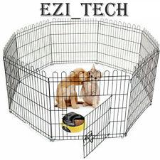 91cm Pet Cage Metal Playpen 8 Panel Dog Cat Rabbit Play Pen Wire Run Fence UK