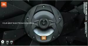 "NEW JBL MS8B CLUB Series 8"" Coaxial Marine Speakers BLACK 8"" (1 PAIR)"