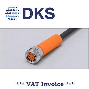 IFM  EVC151 M8 Socket Straight 4 Pin 5m PUR Sensor Cable 000290