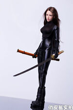 1/6 Female Killer Ninja Warrior Agents Leather Suits For Verycool Body Figure