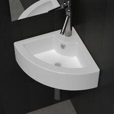 Ceramic Basin Corner Sink Basin Faucet Overflow Hole Modern Bathroom Washroom