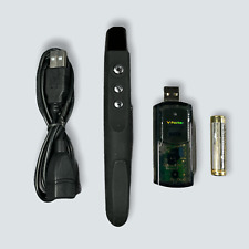 More details for wireless presenter with red laser pointer | pen - balck