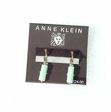 ANNE KLEIN Silver-Tone Pierced Drop Earrings NWT