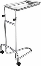 Instrument Stand W Tray 12 12 X 19 U Shaped Base Medical Tray Stand