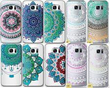 Mandala Telefon Coque/Étui/Case pour Samsung Galaxy S6 S7 Edge / Silicone Gel
