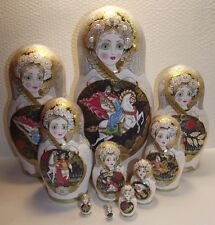 """Matryoshka,10 pieces,12"""",Russian lacquer miniature, Palekh,exclusive,author"""