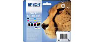Epson T0715 Cheetah Original Genuine 5 Multipack Ink Cartridges To715