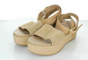 18-23 NEW $105 Women's Sz 7 M Ugg Chapala Suede Platform Wedge Sandal in Brown
