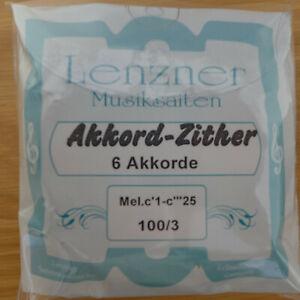 Lenzner-Zither.Saiten für 49 saitige Akkordzitter kompletter Satz