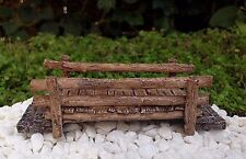 Miniature Dollhouse FAIRY GARDEN Accessories ~ Mini Resin Wood Look Bridge ~ NEW