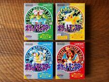 Pokemon Green Yellow Blue Red (price = per game) / Game Boy gb cib box map japan
