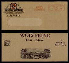 1940 WOLVERINE SHOE & GLOVE TANNING CORP ADVERTISING ROCKFORD MICHIGAN MI METER
