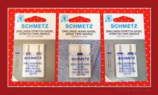 Schmetz Zwillingsnadel-Sortiment ~ Flachkolben ~ Jersey-Jeans
