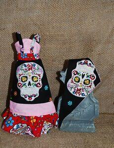 OOAK Sugar Skull Maxi Dress for Vintage, Mod & Reproduction Barbie, Midge
