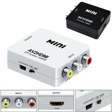 Mini RCA AV HDMI Converter Adapter Composite AV2HDMI Converter 1080P HDTV DVD US