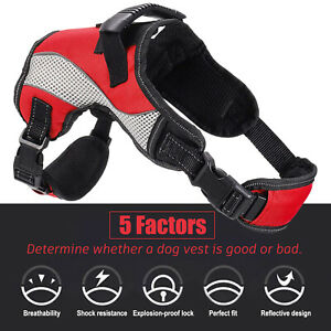 Dog Pet Harness No-Pull Pulling Soft Breathable Padded Adjustable Puppy Vest UK