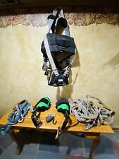 Falltech Fall Protection Harness 7088L, Notch Gecko Steel Climbers, Leg Shock Ab