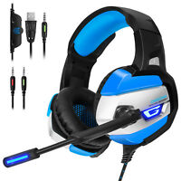 3.5mm Gaming Headset LED Noise Cancelling Headphone w/ Mic for PS4 PC Xbox One