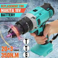 🔥3in1 350N.m Electric Cordless Impact Drill Screwdriver for 18V Makita