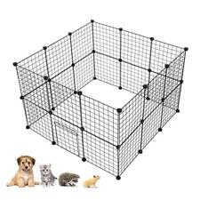 """29""""Tall Foldable 24 Panels Metal Pet Dog Puppy Cat Exercise Fence Barrier Plaype"""