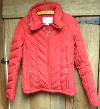 NINE WEST GIII Ladies Red Down Puffer Jacket Coat Warm Flattering Ski Size S EUC