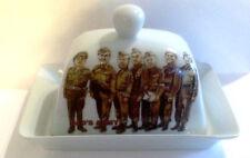 DAD'S ARMY WHITE CERAMIC BUTTER DISH  Captain Mainwaring, Jones, Pike, Wilson