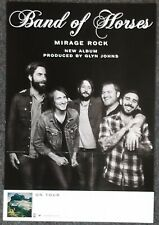 Band of Horses Mirage Rock 2012 DOUBLE-SIDED PROMO POSTER