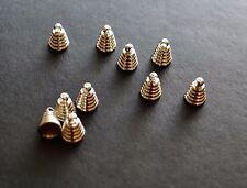 10 Tapa de grano Plateado Plata Cono final bolas de 6mm X 8mm para la fabricación de joyas