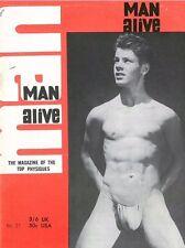 Man Alive No.27 March 1965, w/Bulletin 20 Vintage British Edition Gay Magazine