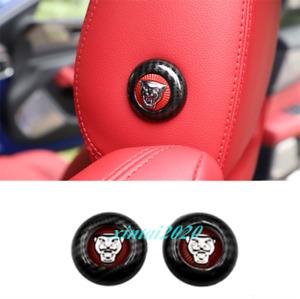 Carbon Fiber Interior Front Row Headrest Button Cover Trim For Jaguar XE 2020
