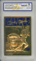 1996 MICKEY MANTLE NY YANKEES #7 23K GOLD CARD - GRADED GEM-MINT 10