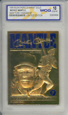 1996 MICKEY MANTLE NY YANKEES #7 23K GOLD CARD - GRADED GEM-MINT 10