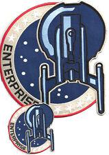 "STAR TREK ENTERPRISE NX-01 LOGO PATCH SET OF 2- 8"" JACKET & 3.5""(STPAT-ENT-BIG2)"