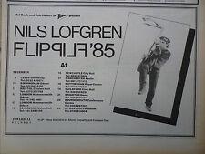 "NILS LOFGREN FLIP UK TOUR DATES 1985, N.M.E. ADVERT,PICTURE,11"" X 8"""