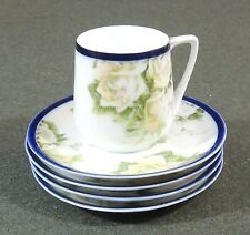 5 Rosenthal Bavaria Donatello Royal Blue 1 Demitasse Espresso Cups 4 Saucers