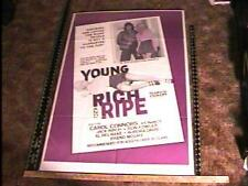 YOUNG RICH & RIPE MOVIE POSTER CAROL CONNORS