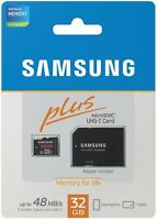 NEW SAMSUNG 32GB Micro SDHC SD Card Class 10 Plus Adapter MB-MPBGC - SEALED, NIB
