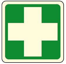 Cartello segnaletica cassetta di medicazione luminescente in PVC
