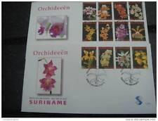 REP. SURINAME 2007 FDC E 300 AB ORCHIDS FLOWERS FLEUR  BLANK