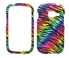 Dark Color Zebra Rubberized Case for Samsung Galaxy Centura S738C S730G Discover