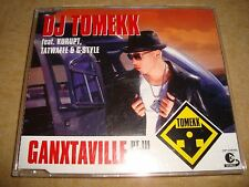 DJ TOMEKK feat. KURUPT, TATWAFFE & G-STYLE - Ganxtaville Pt. III  (Maxi-CD)