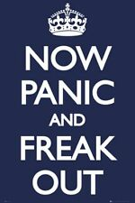 HUMOR POSTER Now Panic and Freak Out Keep Calm Parody