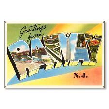Rahway New Jersey nj Vintage Postcard Metal Sign Wall Decor Steel not tin 36x24