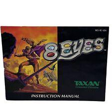 8 Eyes Instruction Manual ONLY! (Nintendo, NES) Booklet