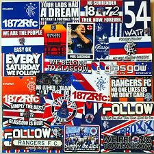 100 x Glasgow Rangers Ultras Stickers - Based on Flag Cap Hat Badge Shirt Scarf