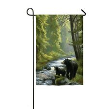 Black Bear & Cub By The Stream Great Outdoors Small Garden Flag Only