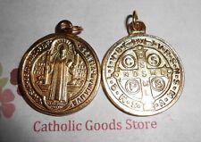 "San Benito Medalla - Saint Benedict - Lg Round Gold tone Jubilee 1"" Medal"
